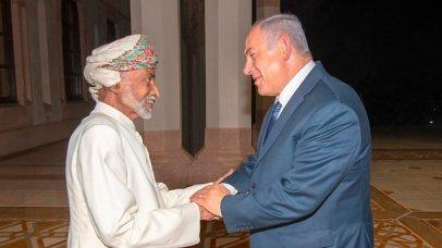 Netanyahu meets with Sultan Qaboos in Oman (Photo: AP)