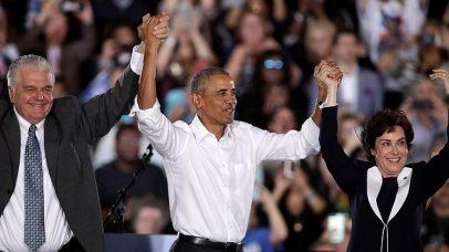 Former US President Obama with Senate candidates in Nevada (Photo: EPA)