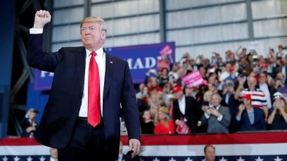US President Trump at campaign rally in Florida (Photo: Reuters)