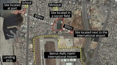 Satellit images of Hezbollah missile factory (Photo: IDF Spokesperson's Unit)