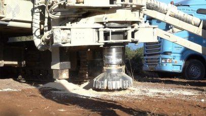 Engineering equipment to combat tunnels (Photo: IDF Spokesperson)