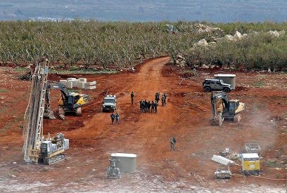 Engineering work along the Israel-Lebanon border  (Photo: AFP)