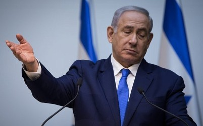 Prime Minister Benjamin Netanyahu delivers a statement to the press at the Knesset in Jerusalem on December 19, 2018. (Hadas Parush/Flash90)