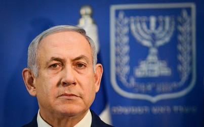 Prime Minister Benjamin Netanyahu speaks during a press conference at the Defense Ministry in Tel Aviv, on November 18, 2018. (Tomer Neuberg/Flash90)