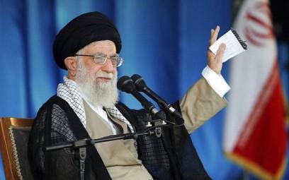 Iranian Supreme Leader Ayatollah Ali Khamenei at a gathering of the Basij, an all-volunteer force under the Revolutionary Guard, in Tehran, October 4, 2018. (Office of the Iranian Supreme Leader via AP)
