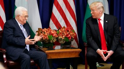 Donald Trump and Mahmoud Abbas meeting in New York in 2017 (Photo: AP)