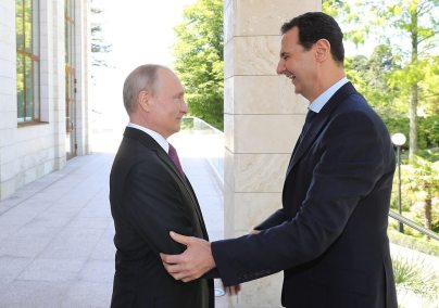 Vladimir Putin and Bashar Assad meeting in Russia, May 2018 (Photo: Reuters) (Photo: Reuters)