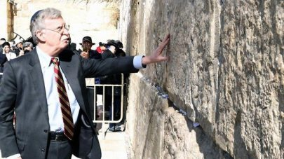 John Bolton at the Western Wall in Jerusalem, January 6, 2019