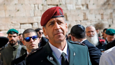 IDF Chief of Satff Aviv Kochavi at the Western Wall in Jerusalem (Photo: AFP)