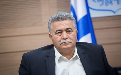 MK Amir Peretz attends a Defense and Foreign Affairs Committee meeting at the Knesset, October 22, 2018. (Miriam Alster/Flash90)