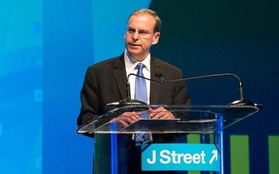 J Street Executive Director Jeremy Ben-Ami addressing the group's conference in Washington, March 21, 2015. (Courtesy JTA/J Street)