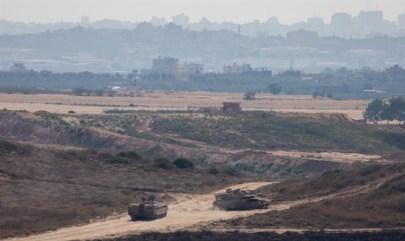 IDF patrols Gaza border
