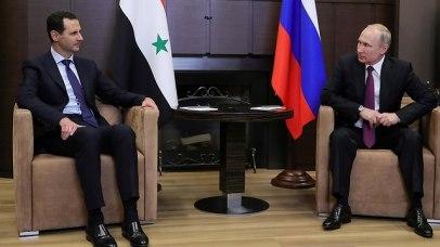 Syrian President Bashar Assad with Russian counterpart Vladimir Putin in Sochi  (Photo: Reuters)