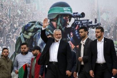 Hamas leader Ismail Haniyeh in Gaza (Photo: AFP)