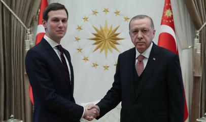 Kushner and Erdogan meet in Ankara (Photo: AFP)