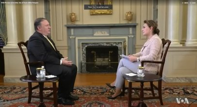 Setareh Derakhshesh interviews Mike Pompeo on VOA