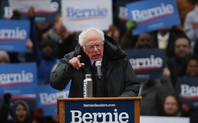 Democratic Presidential candidate US Sen. Bernie Sanders (I-VT) speaks to supporters at Brooklyn College on March 2, 2019 in the Brooklyn borough of New York City. (Spencer Platt/Getty Images/AFP)