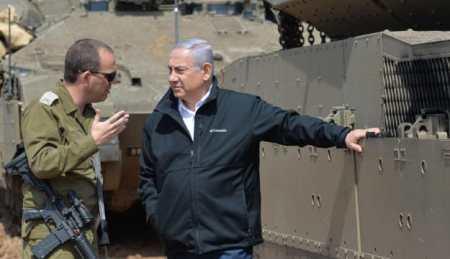 Prime Minister Benjamin Netanyahu on the Israel-Gaza border, March 28, 2019.