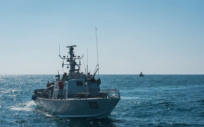 Israeli Navy boats take part in an exercise in northern Israel simulating a war with the Hezbollah terrorist group in September 2017. (Israel Defense Forces)