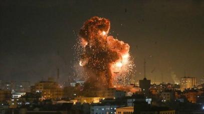 The IAF strikes Gaza after rocket fire on Tel Aviv