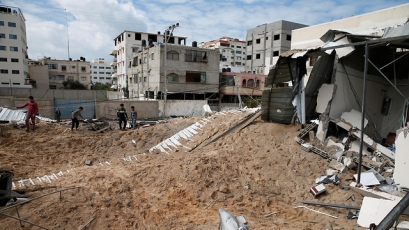 Damages in the Gaza Strip, following the IAF strikes (Photo: Reuters)