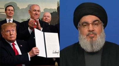 Trump signing recognition order; Nasrallah
