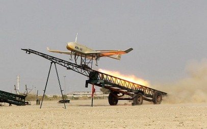 An Iran-made drone is launched during a military drill in Jask port, southern Iran, in this picture released by Jamejam Online December 25, 2014. (AP Photo/Jamejam Online, Chavosh Homavandi, File)