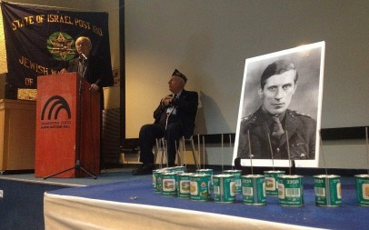 Orde Wingate played a key role in creating Israel's military ethos. He was remembered in March 2012 at a ceremony in Jerusalem. (photo credit: Matti Friedman/Times of Israel)