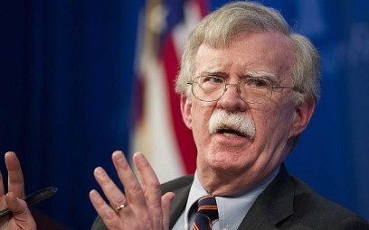 US National Security Advisor John Bolton unveils the Trump Administration's Africa Strategy at the Heritage Foundation in Washington, December 13, 2018. (Cliff Owen/AP)