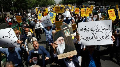 Protests in Tehran after the US reimposes nuclear sanctions (Photo: EPA)