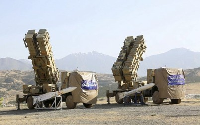 This photo released by the official website of the Iranian Defense Ministry on Sunday, June 9, 2019, shows the Khordad 15, a new surface-to-air missile battery at an undisclosed location in Iran. The system uses locally made missiles that resemble the HAWK missiles that the US once sold to the shah and later delivered to the Islamic Republic in the 1980s Iran-Contra scandal. (Iranian Defense Ministry via AP)