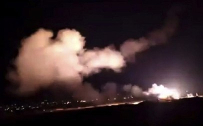 Illustrative: This frame grab from a video provided by the Syrian official news agency SANA shows missiles flying into the sky near Damascus, Syria, Tuesday, December 25, 2018. (SANA via AP)