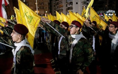 Hezbollah supporters take part in a rally to mark al-Quds day in Beirut, Lebanon, May 31, 2019. (AP Photo/Hassan Ammar)