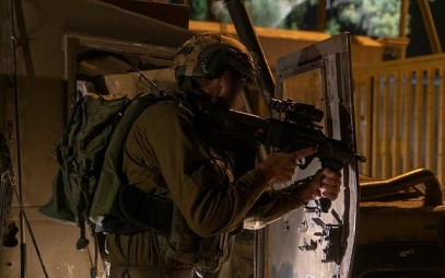 Troops secure communities in Gaza border area, August 1, 2019 (Israel Defense Forces)