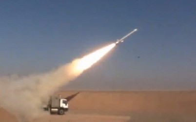 Illustrative: Iran says it successfully tested the Hoveizeh cruise missile on February 2, 2019 (Screen grab via Tasnim)