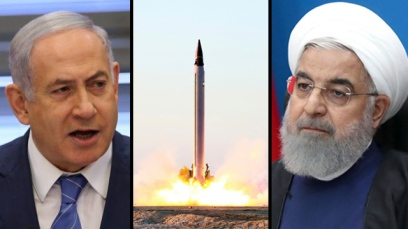 Prime Minister Benjamin Netanyahu and Iran's President Hassan Rouhani (Photo: Alex Kolomoisky, AP)