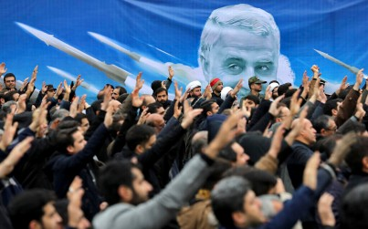 Protesters demonstrate over the US airstrike in Iraq that killed Gen. Qassem Soleimani, in Tehran, Iran, Saturday Jan. 4, 2020. (AP Photo/Ebrahim Noroozi)