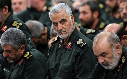 Iranian Revolutionary Guard Corps' Quds Force commander Gen. Qassem Soleimani, center, attends a meeting with Supreme Leader Ayatollah Ali Khamenei and Revolutionary Guard commanders in Tehran, Iran, September 18, 2016. (Office of the Iranian Supreme Leader via AP)