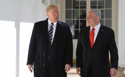 US President Trump hosts Prime Minister Benjamin Netanyahu at the White House,  January 27, 2020. (Kobi Gideon/GPO)