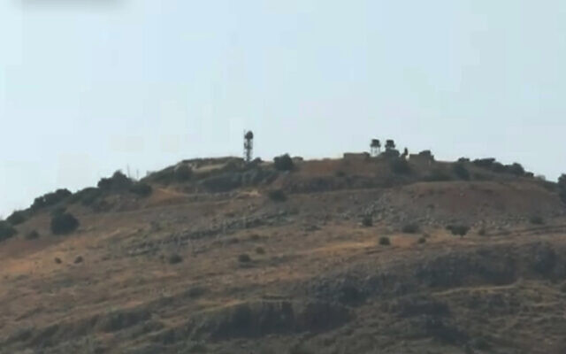 View of an Israeli military post near the Lebanese border, July 27, 2020 (Channel 12 screenshot)